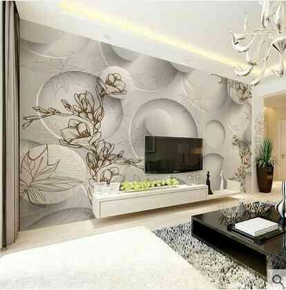 Giấy dán tường 3D,5D - Xu hướng nội thất của năm 2017