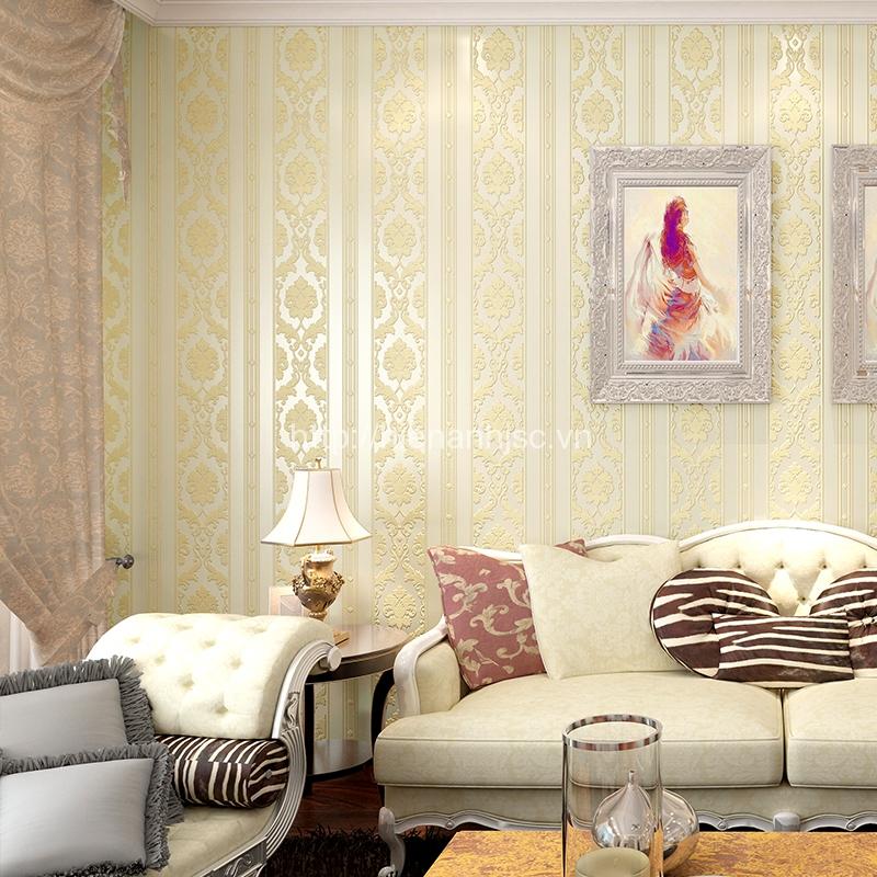 Giấy dán tường 3D đẹp sang trọng giá rẻ cho phòng khách - 3D003