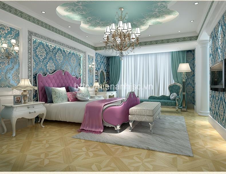 Giấy dán tường phòng ngủ 3D khách hàng tại Thái Nguyên - 3D005