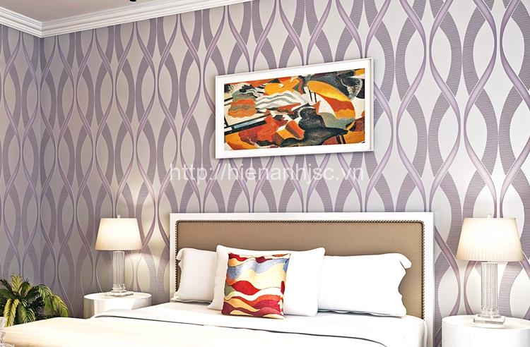 Giấy dán tường 3D phòng ngủ sang trọng của Hiển Anh - 3D007