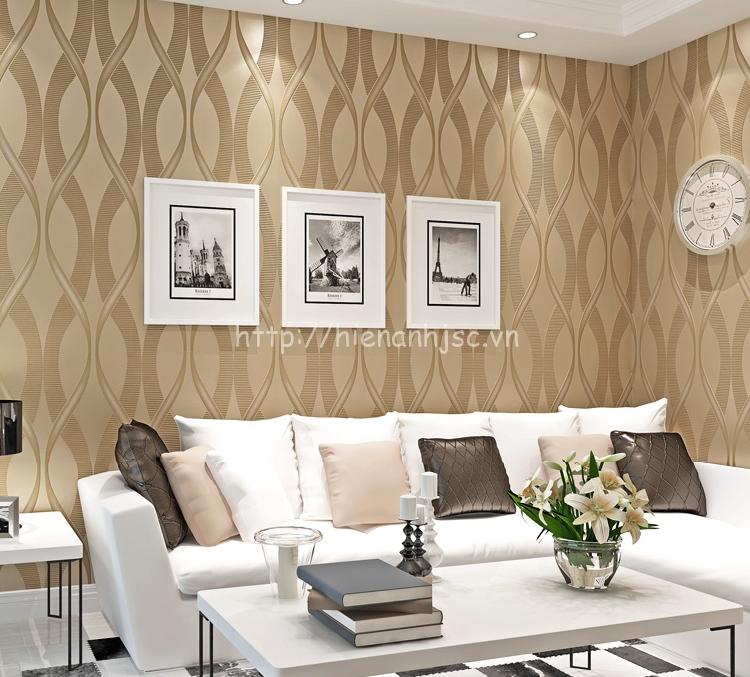 Giấy dán tường 3D phòng khách tại quận Hoàng Mai - 3D007