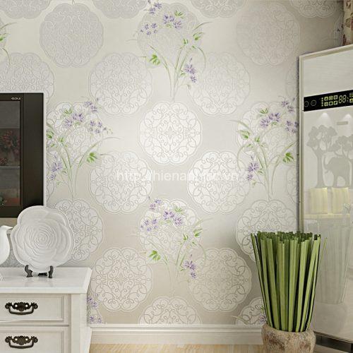 Giấy dán tường 3D-6-HoaVanTron+Cây Hoa
