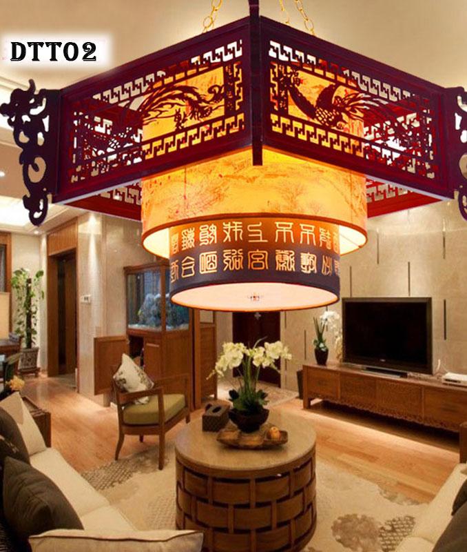 Đèn trang trí gỗ cổ điểm - DTT02