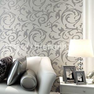 Giấy dán tường họa tiết hoa lá sang trọng - 3D017