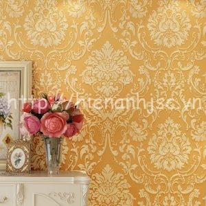 Giấy dán tường họa tiết hoa lá cách điệu - 3D022