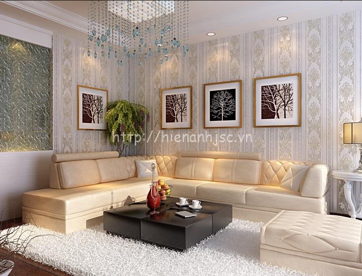 Giấy dán tường 3D phòng khách hiện đại tại- 3D025