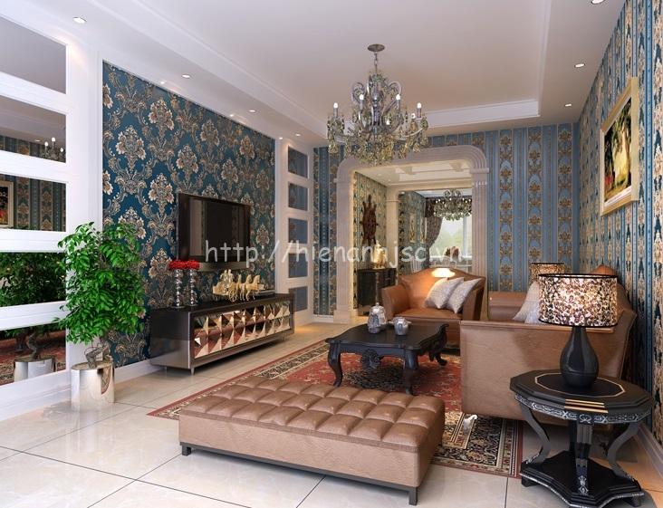 Giấy dán tường 3D phòng khách hiện đại tại Thanh Xuân - 3D025