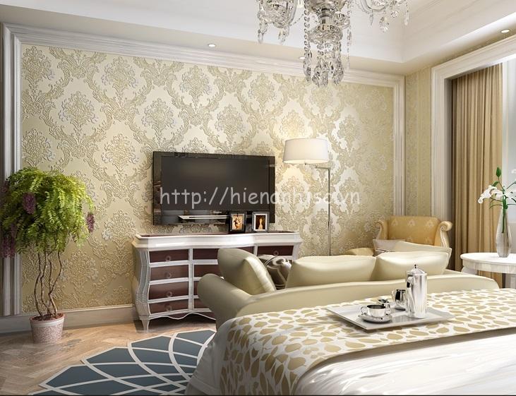 Sử dụng giấy dán tường cách điệu cho phòng ngủ đẹp - 3D025