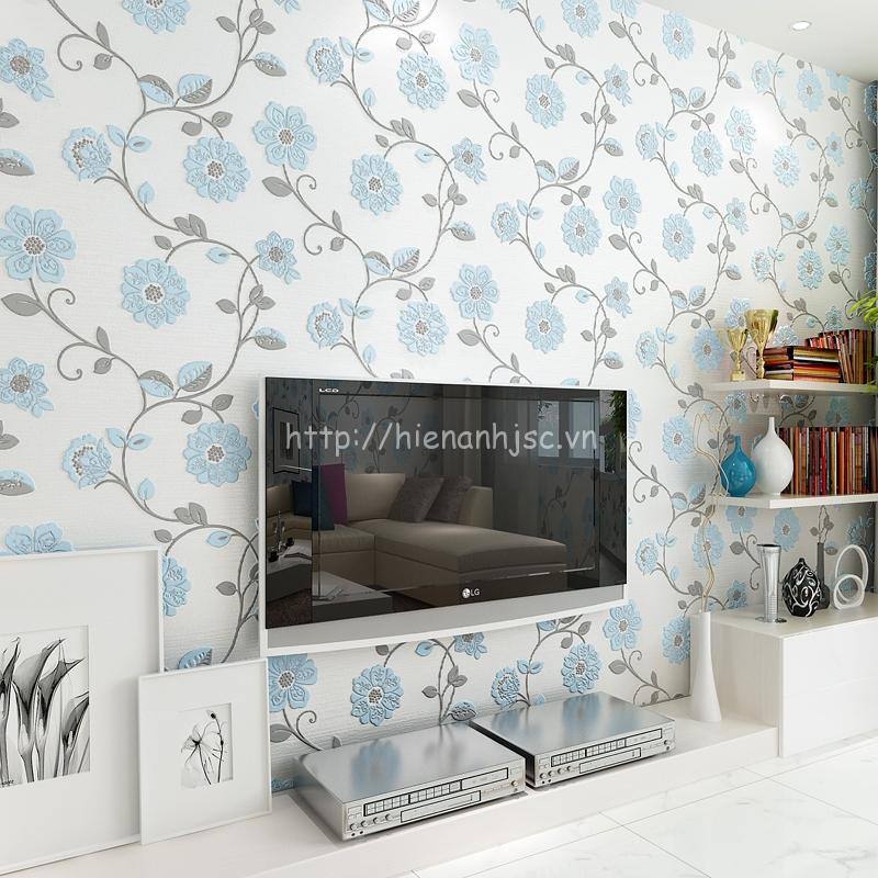 Giấy dán tường 3D030 giá rẻ đẹp họa tiết dây leo phòng khách