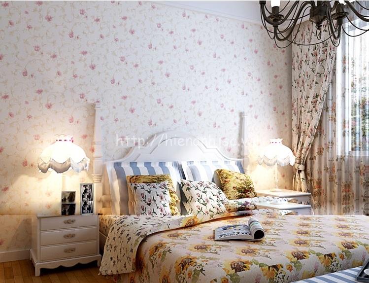 Giấy dán tường Hiển Anh cho phòng ngủ sang trọng - 3D033