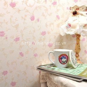 Giấy dán tường họa tiết hoa lá đơn giản - 3D033