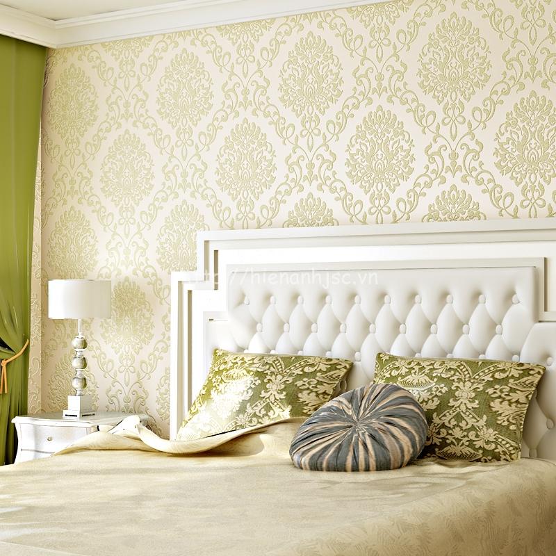 Trang trí phòng ngủ sang trọng bằng giấy dán tường - 3D035