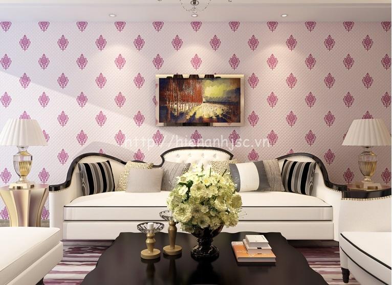 Giấy dán tường 3D phòng khách đơn giản