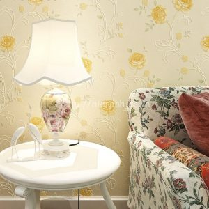 Giấy dán tường họa tiết hoa hồng dập nổi - 3D044