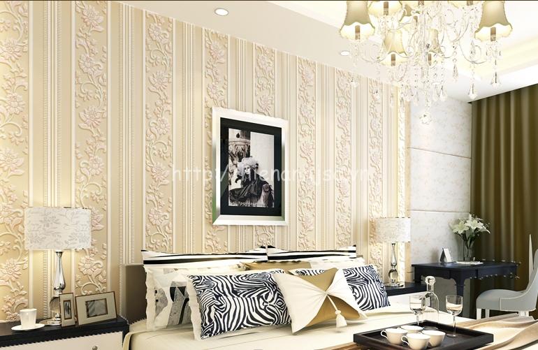 Giấy dán tường phòng khách đẹp giá rẻ - 3D059