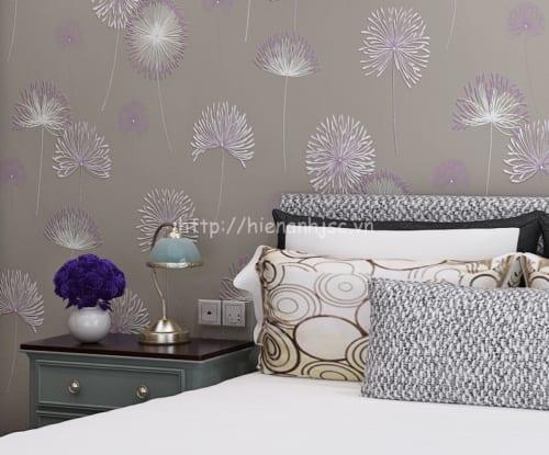 Giấy dán tường họa tiết hoa cỏ may - 3D047