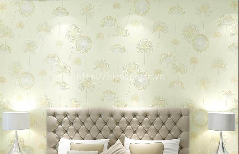 Giấy dán tường ở Hà Nội họa tiết hoa cỏ may