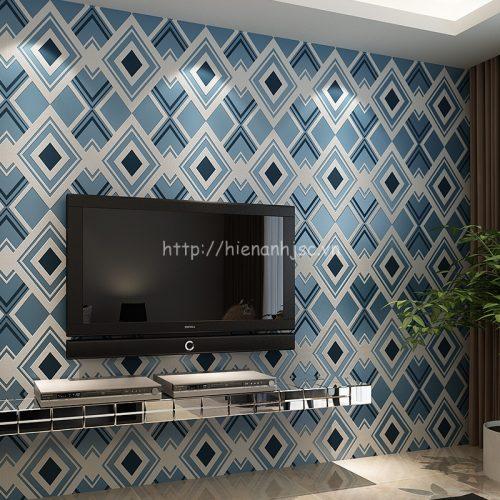Giấy dán tường 3D họa tiết ô vuông hiện đại - 3D052