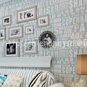 Giấy dán tường họa tiết chữ tiếng anh - 3D054