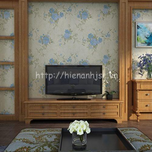 Giấy dán tường họa tiết vườn hoa hồng - 3D055