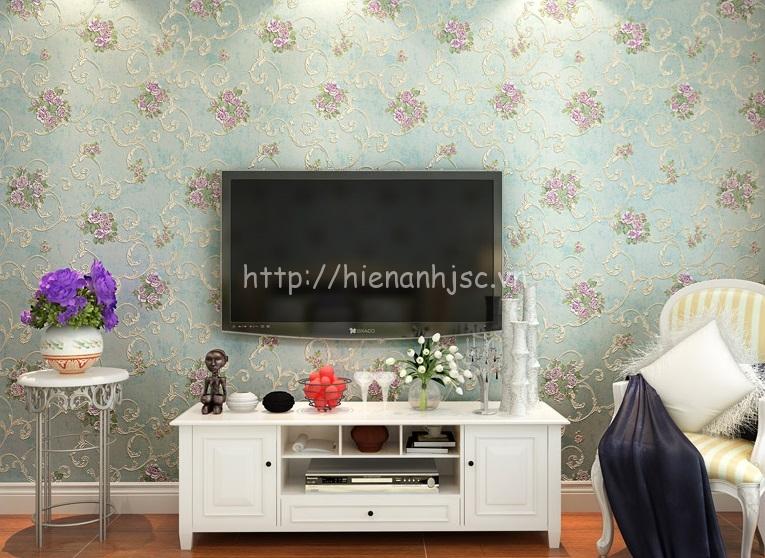 Vải dán tường phòng khách đẹp cao cấp