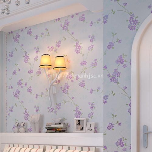 Giấy 3D dán tường họa tiết hoa lá sang trọng - 3D059