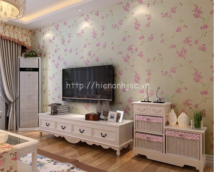Giấy dán tường phòng khách đẹp và lãng mạn ở quận 4 TPHCM