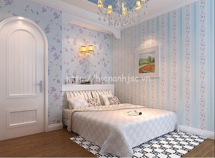 Giấy dán tường cho phòng ngủ đẹp giá tốt tại Hà Nội - 3d059