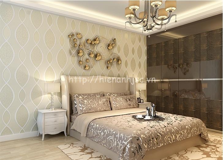Giấy dán tường phòng ngủ 3D sang trọng - 3D060