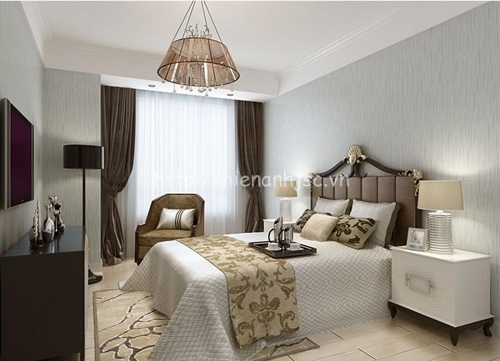 Giấy dán tường màu xám trơn cho phòng ngủ - 3D061