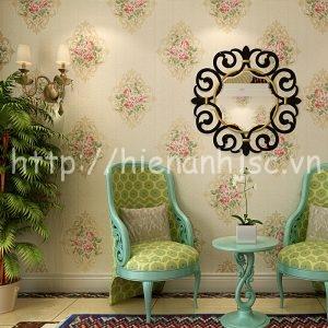 Giấy dán tường họa tiết hoa phong cách châu Âu - 3D062
