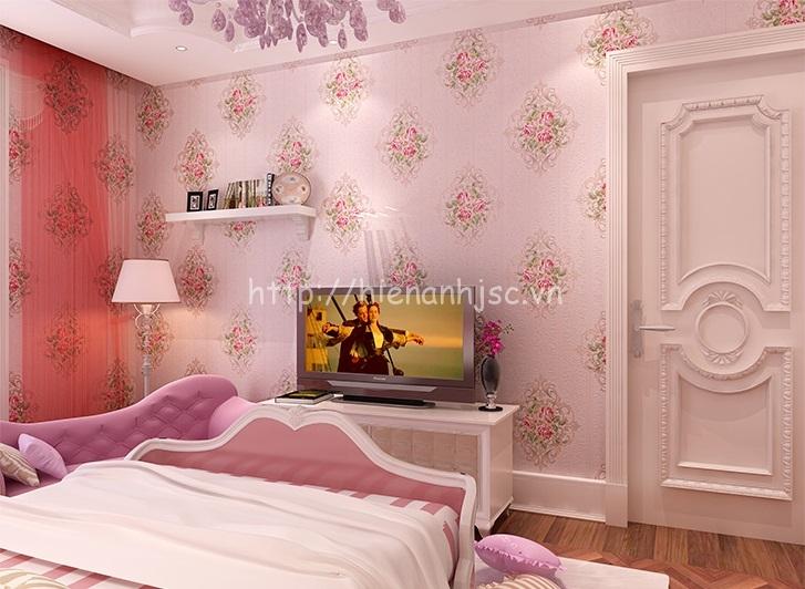 Giấy dán tường họa tiết hoa hồng đẹp giá rẻ - 3D062