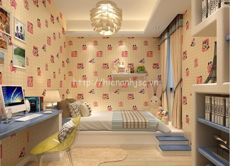 Giấy dán tường phòng ngủ trẻ em ở Hà Nội