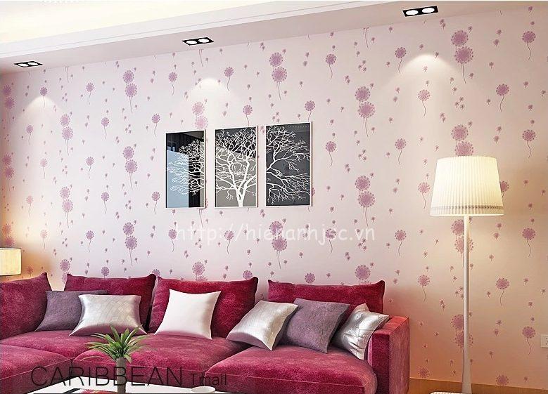 Giấy dán tường tại quận 4 TPHCM đẹp cho phòng khách