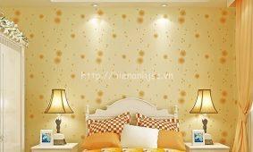 Giấy dán tường màu vàng | Mẫu giấy tường 3D màu vàng giá rẻ