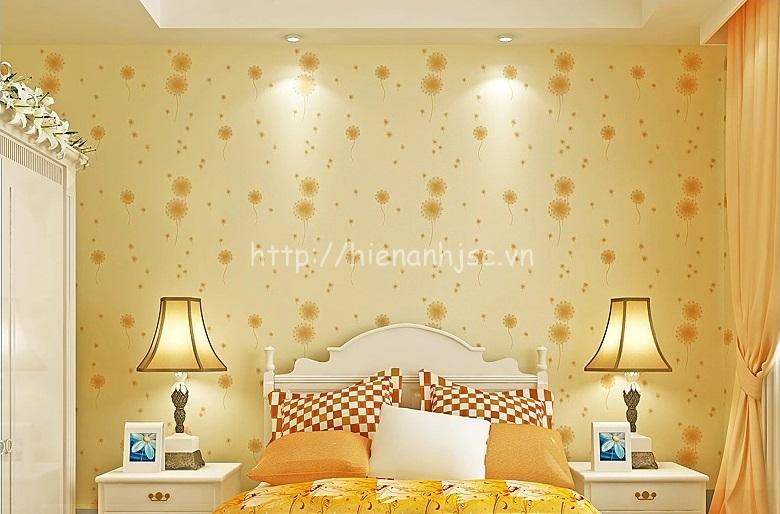 Giấy dán tường họa tiết hoa bồ công anh cho phòng ngủ đẹp - 3D074