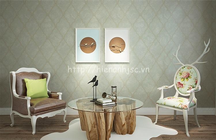 Giấy dán tường 3D họa tiết ô vuông hiện đại phòng khách - 3D078