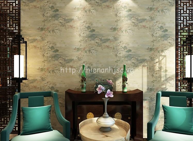 Giấy dán tường họa tiết hoa mờ tại Bình Phước