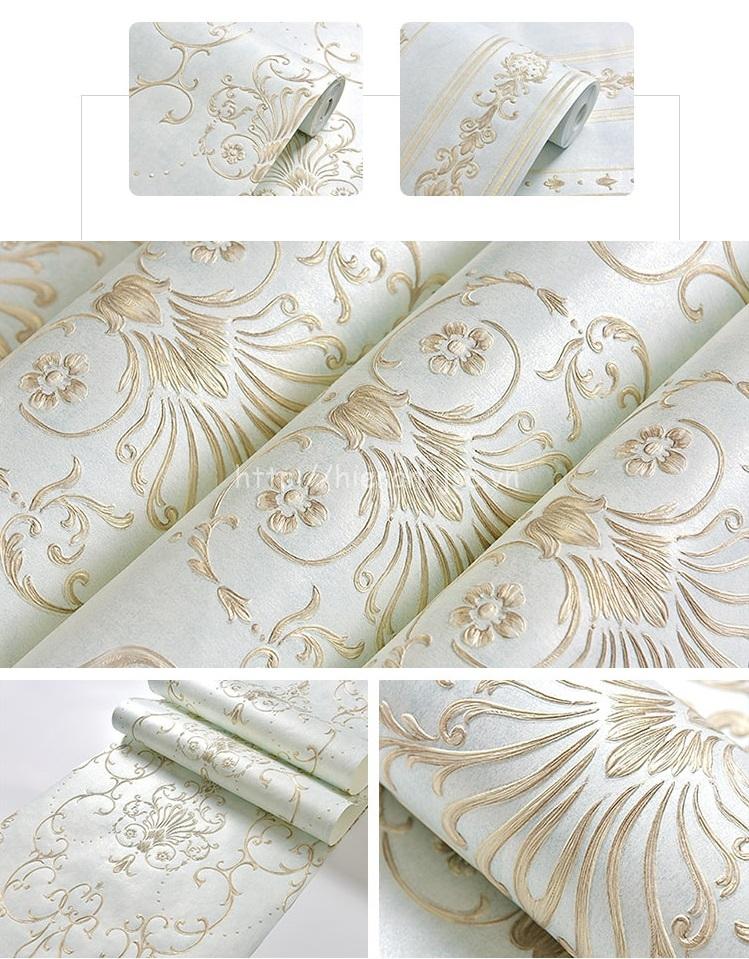 Giấy dán tường 3D - Họa tiết hoa văn cách điệu 3D083