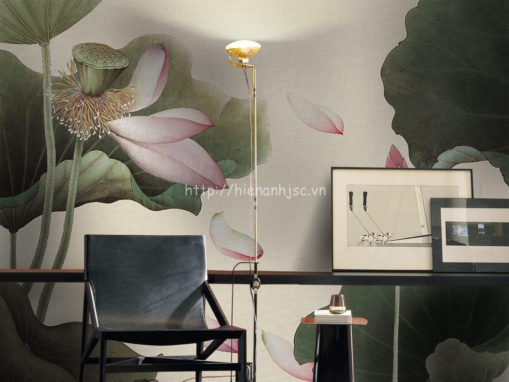 Tranh dán tường 5D - Tranh hoa sen 5D020