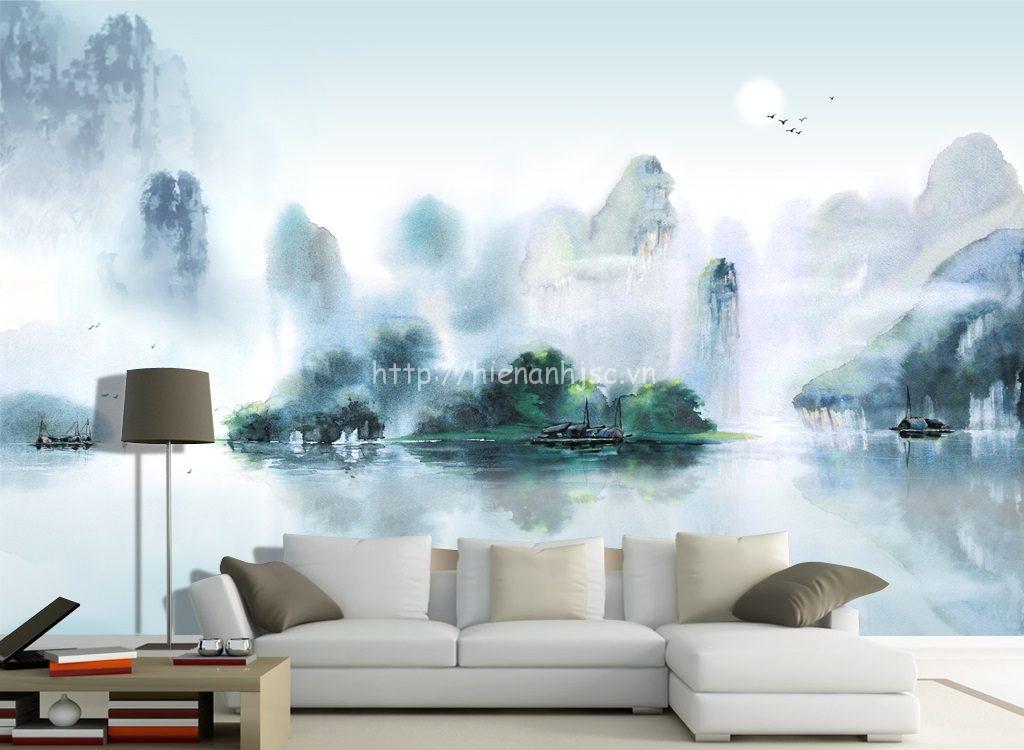 Tranh dán tường 5D - Tranh phong cảnh sơn thủy 5D025