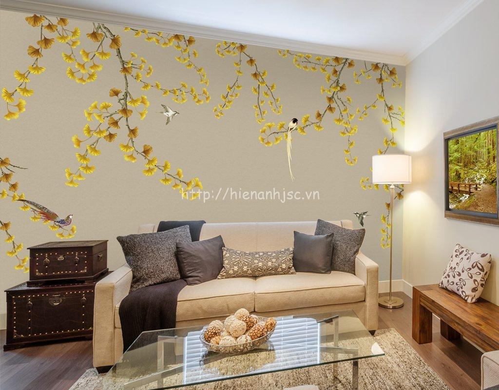 Giấy dán tường 3D 5D cho phòng khách tại Nam Định