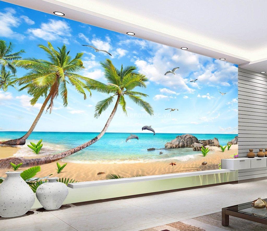 Tranh phong cảnh biển đẹp in 5D của Hiển Anh - 5D027