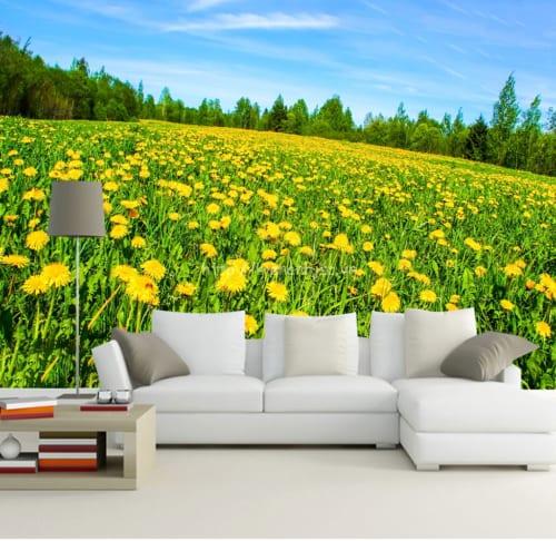 5d030-6-tranh 3D canh dong hoa huong duong phong khach
