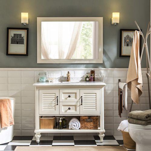 bộ gương tủ chậu rửa phong cách cổ điển KL-669