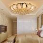 Đèn trang trí phòng khách tròn hoa sen phong cách châu âu