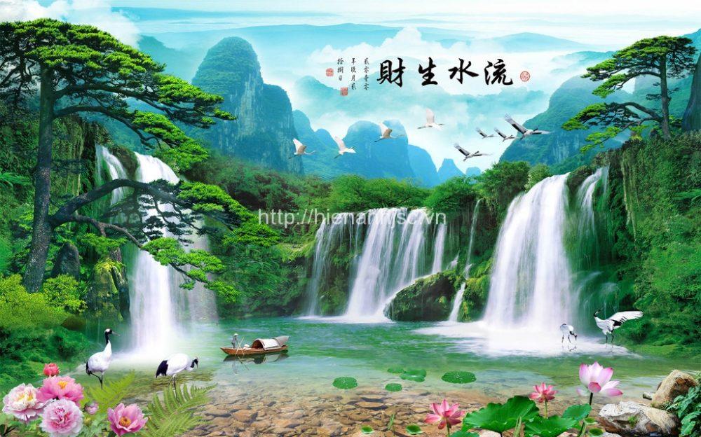 Tranh dán tường Tranh thác nước mã 5D007