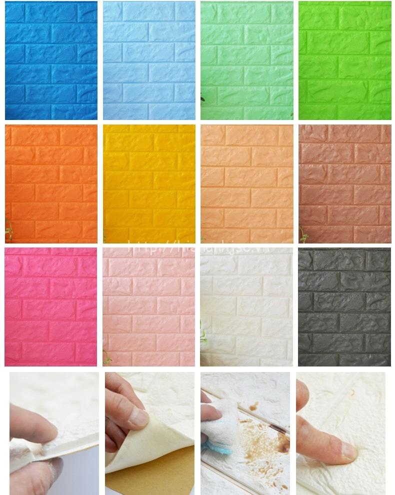Xốp dán tường giả gạch lên tới 12 màu sắc đa dạng