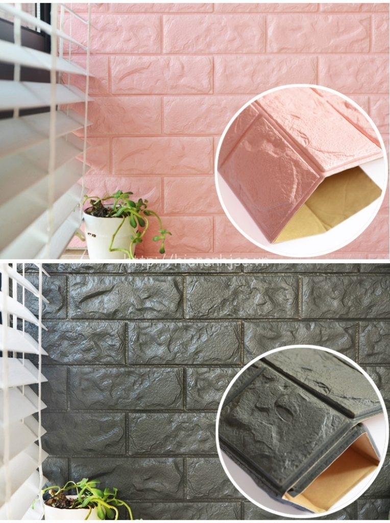 Xốp dán tường giả gạch cao cấp 3D089