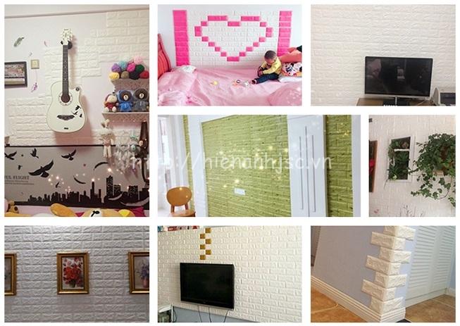 Thỏa sức sáng tạo xốp dán tường giả gạch khi kết hợp nhiều màu sắc khác nhau